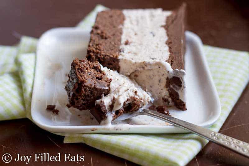 Mint Chocolate Chip Ice Cream Cake - Low Carb, Sugar & Grain Free, THM S