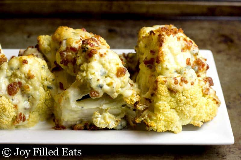 Bacon & Blue Cheese Roasted Cauliflower Wedges