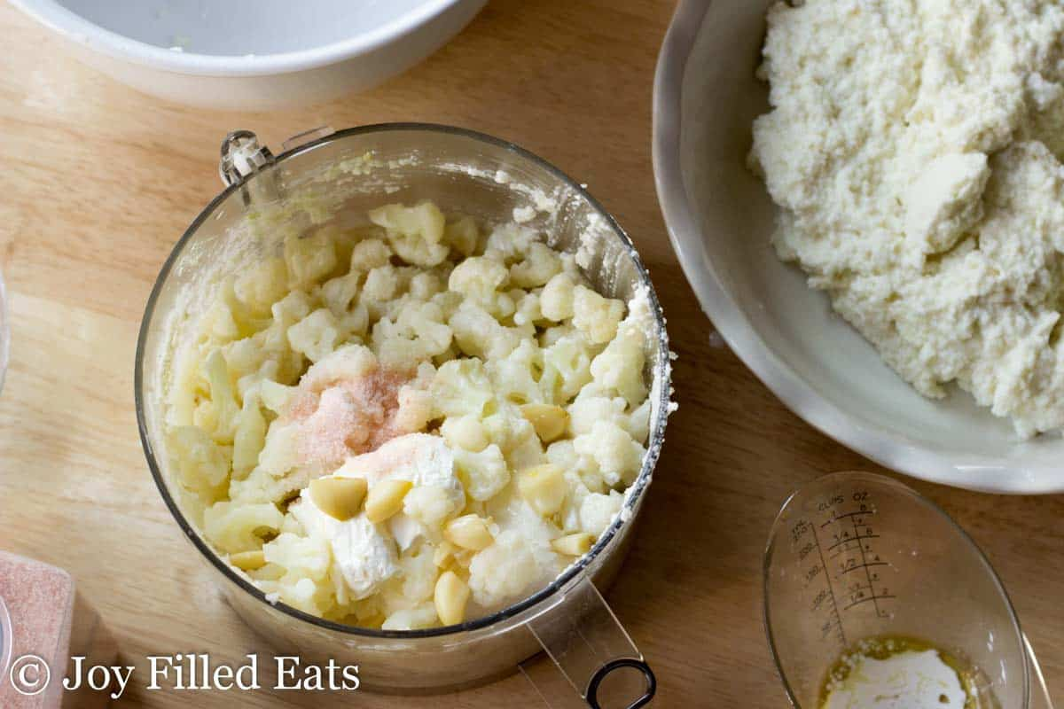 Cream Cheese Cauliflower Mashers with Asiago
