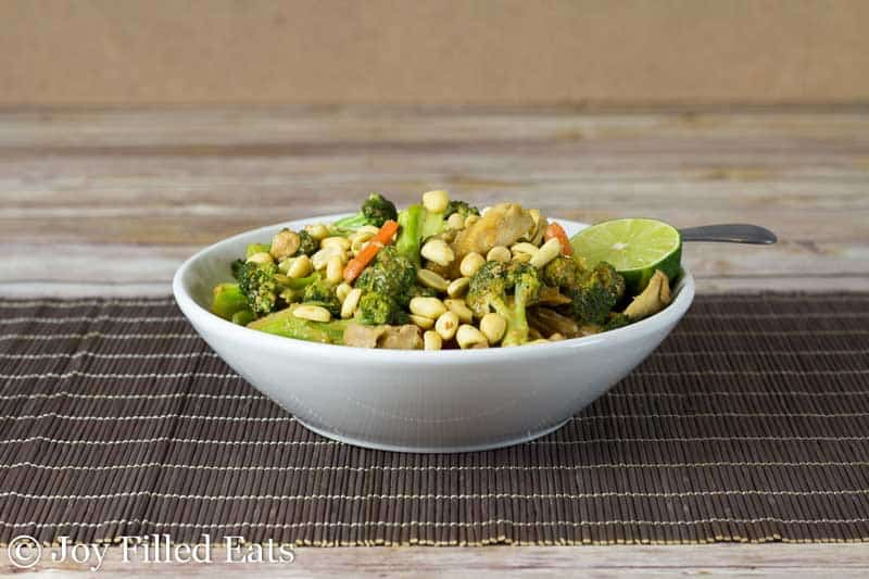 Thai Peanut Chicken & Broccoli – Dairy & Grain Free, THM S