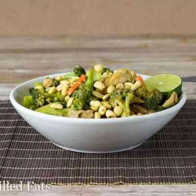 Thai Peanut Chicken & Broccoli – Dairy & Grain Free, THM S