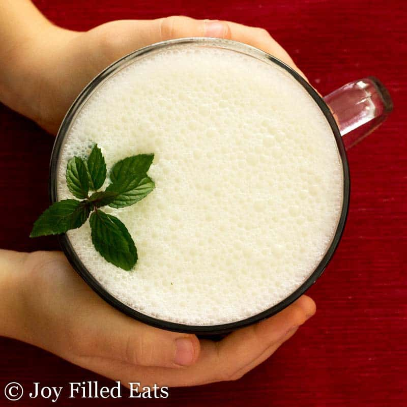 Peppermint White Hot Chocolate - Low Carb, Sugar Free, THM S