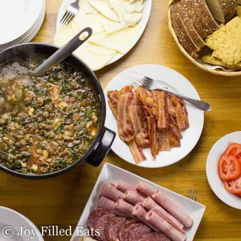 Sausage Kale Soup & DIY Panini Bar