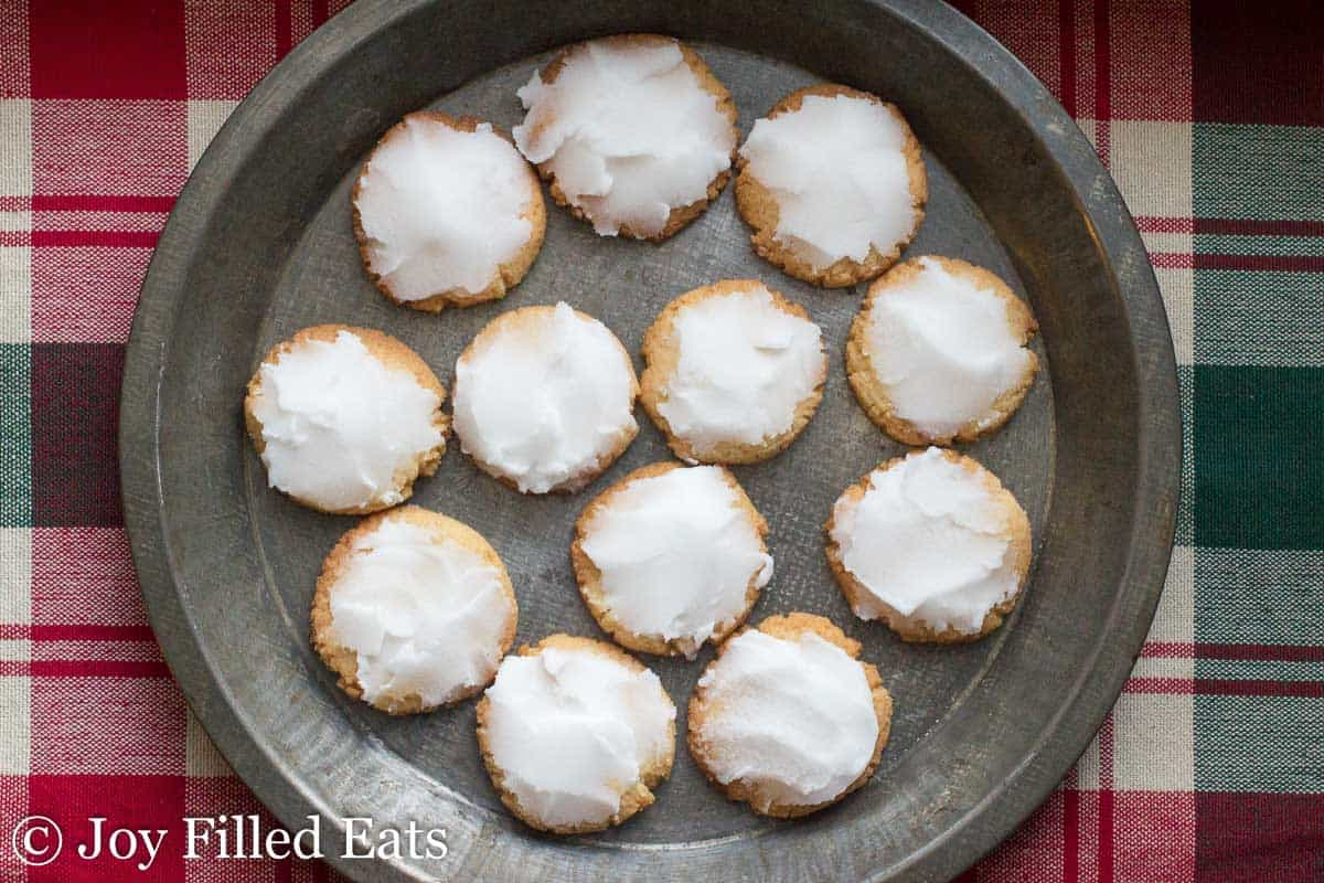 Iced Lemon Cookies - Low Carb, Grain & Sugar Free, THM S