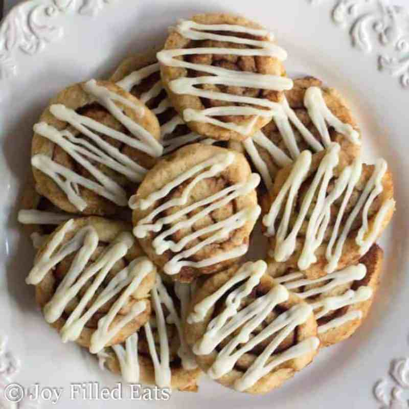 Cinnamon Roll Cookies - Low Carb, Grain Free, THM S