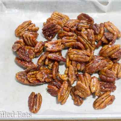 3 Ingredient Stovetop Glazed Pecans