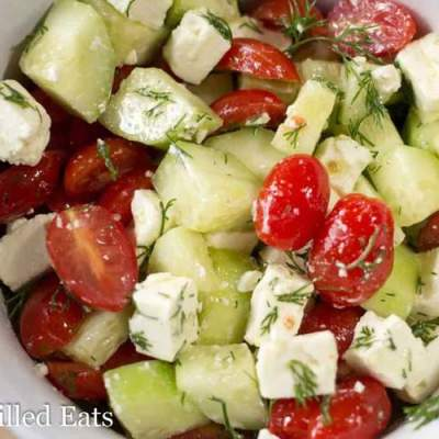 Simple Greek Salad – Low Carb, Grain Free, THM S