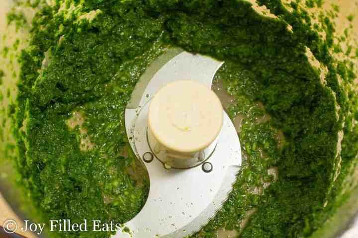cilantro-mint chutney in a food processor