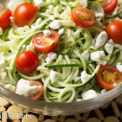 Lemon & Feta Summer Zucchini Salad
