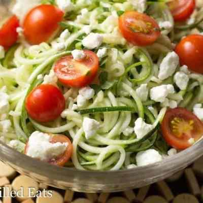 Lemon & Feta Summer Zucchini Salad