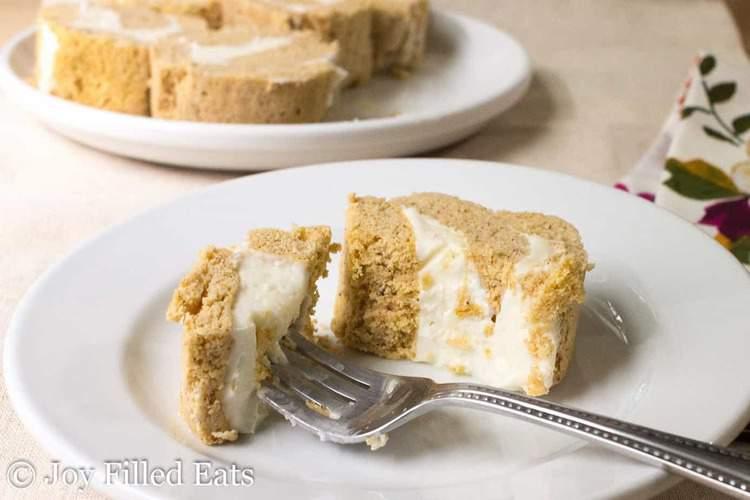 Mini Pumpkin Cake Roll with Cream Cheese Icing