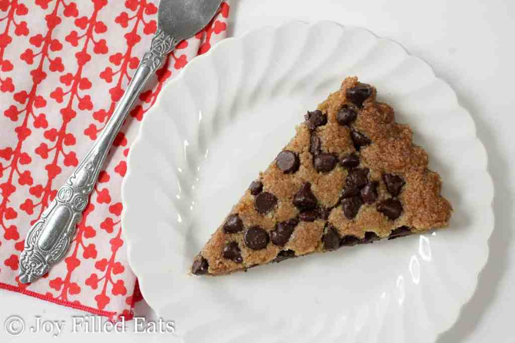 Nutty Chocolate Chip Cookie Tart - Low Carb, Grain Gluten Sugar Free, THM S