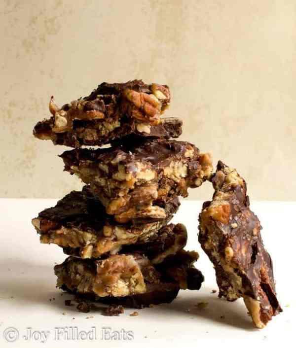 Caramel Pecan Turtle Bark - Low Carb, Sugar Free, THM S, Keto