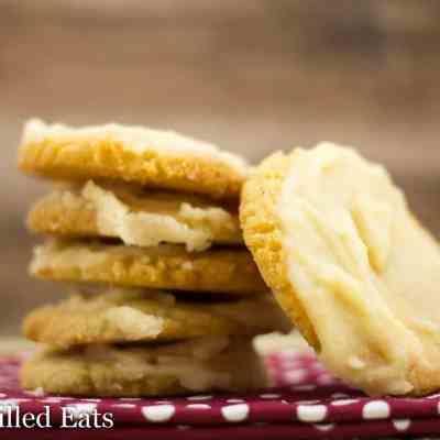 Iced Vanilla Cookies - Low Carb, Grain Gluten Sugar Free, THM S, Keto