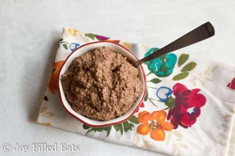 Overhead shot of the Chocolate Chia Pudding Recipe
