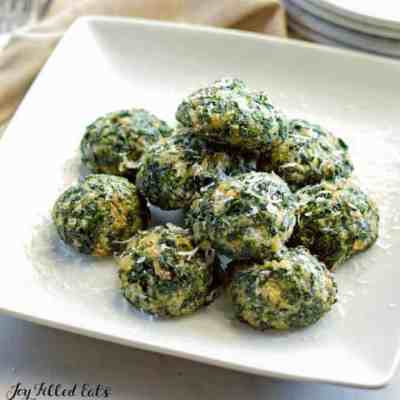 Spinach Balls with Parmesan Keto Low Carb Gluten Free