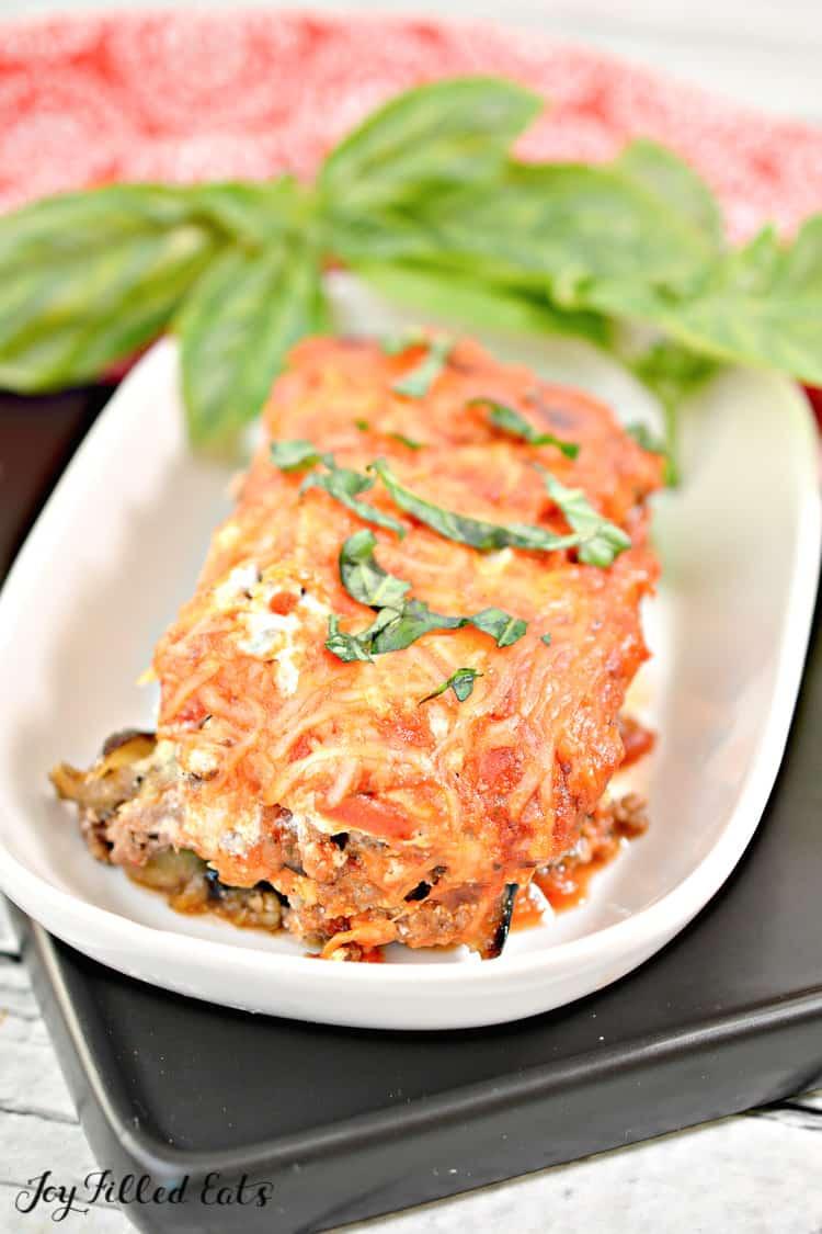 the finished eggplant lasagna