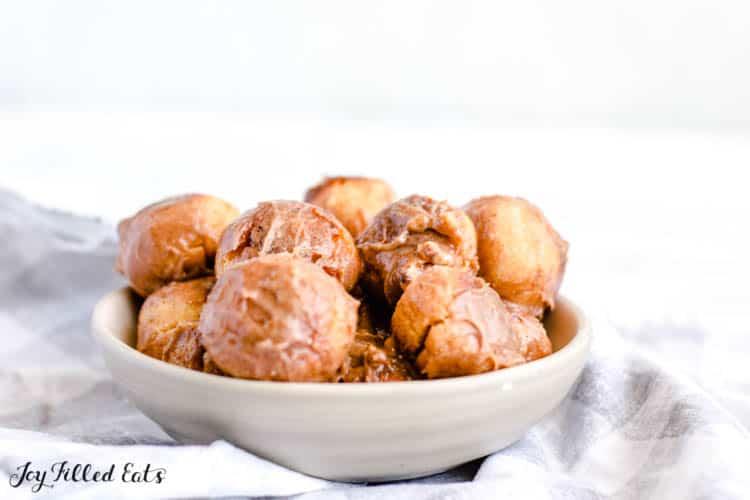 a bowl of keto donut holes