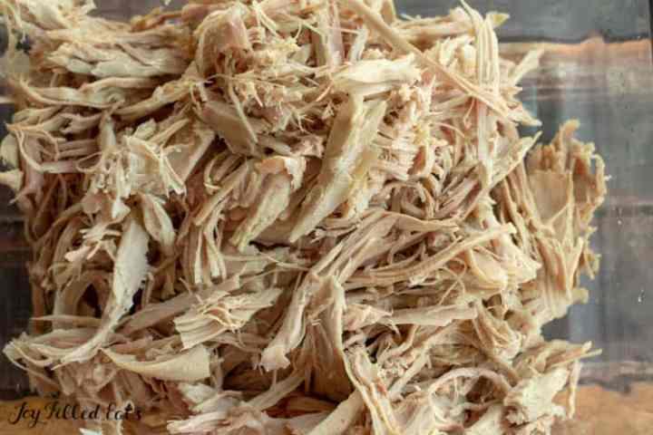 shredded turkey meat