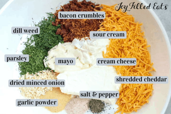 ingredients in the chicken bacon ranch casserole