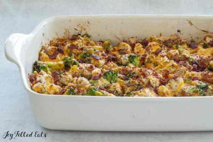the baked casserole