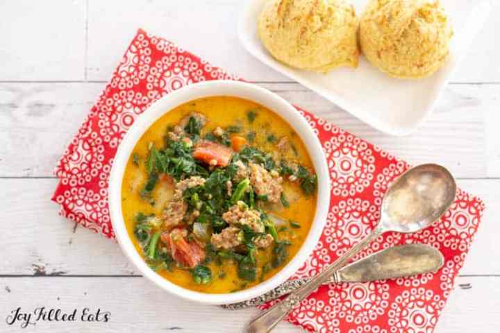 a bowl of the Instant Pot Zuppa Toscana