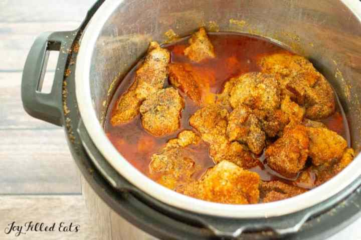 cooked pork in the instant pot