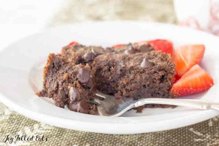 brownie with fork