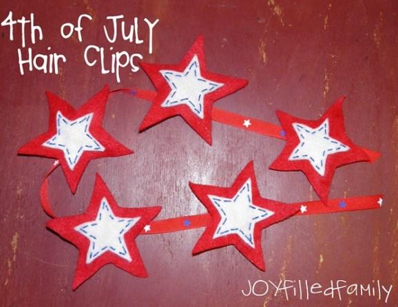july 4th hair clips JOY