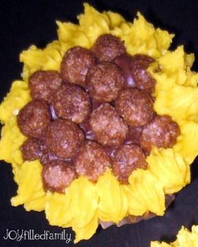 sunflower cupcake  JOY