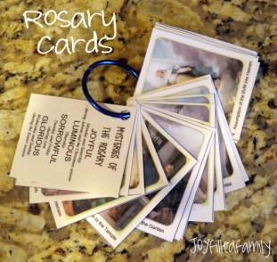 rosary cards JOY