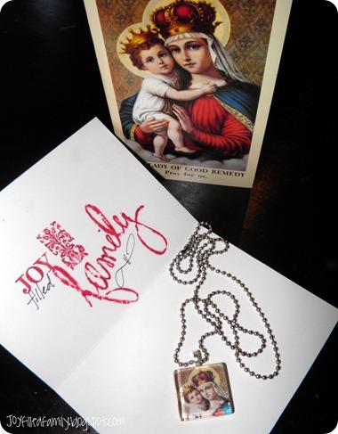 winner marian tile necklace package JOY