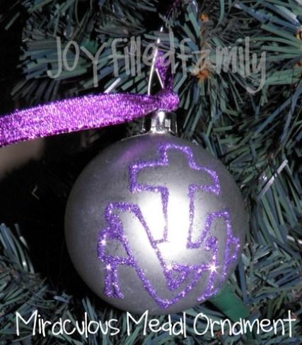 miraculous medal ornament joy