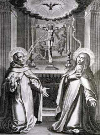 st-john-of-the-cross-and-st-theresa-of-avila-by-french-school