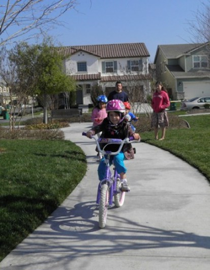 clare riding 2 wheels