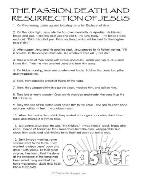 Resurrection Eggs - Narration