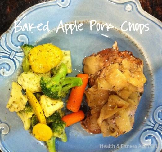 baked apple pork chops