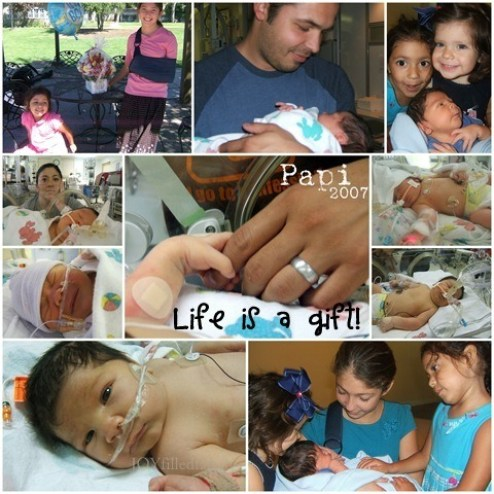 papi 2007 collage - life is a gift