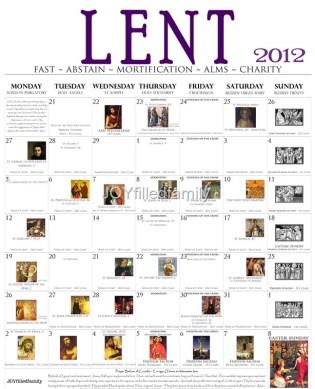 JOYfilledfamily 2012 Lenten Calendar - Old BW