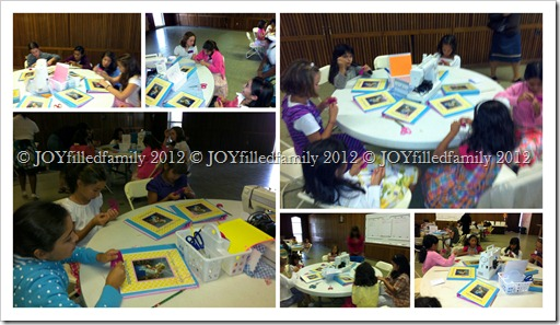 9.1.12 girls working on their embroidered name tags