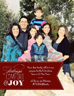 Comfort and JOY JOYfilledfamily 2012