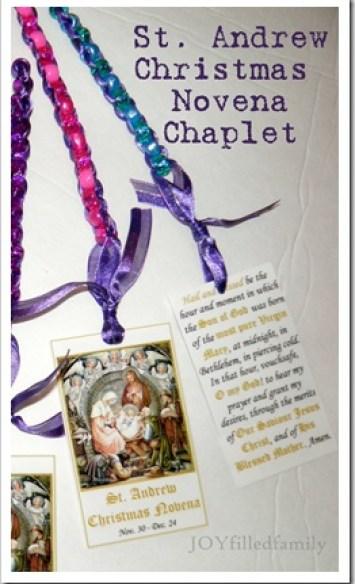 Christmas Novena Chaplet with prayer card