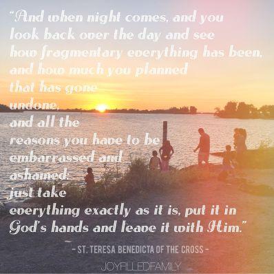 Edith Stein God's will