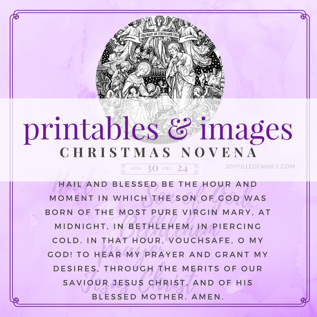 graphic relating to St Andrew Novena Printable titled Xmas Novena Printables Social Media Reminders