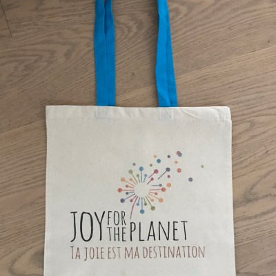 Joy blue cove shopping bag