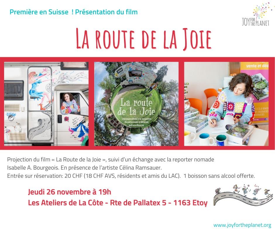 Lancement du film «La route de la Joie» en Suisse