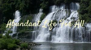 Abundant Life for All!