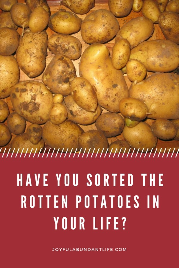 Have you sorted the rotten potatoes in your life-