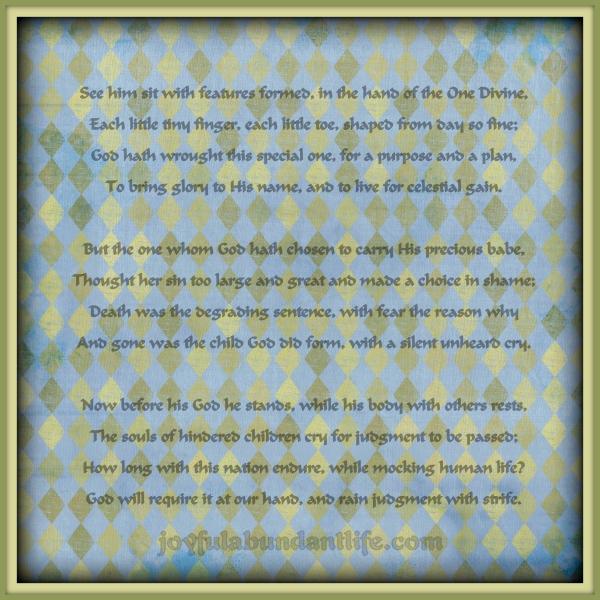 pro life poem