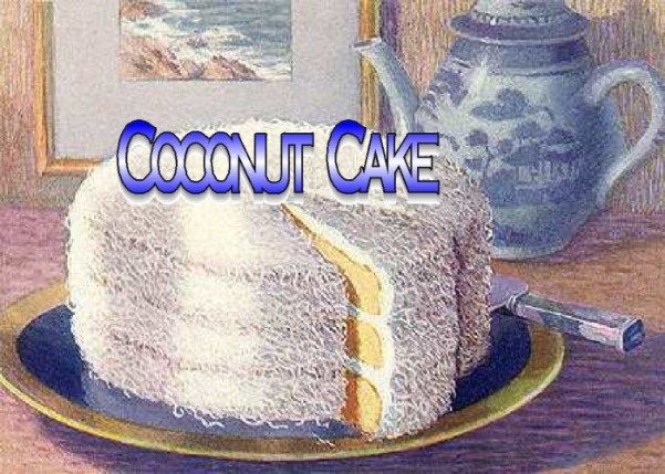Yummy, Moist, Easy coconut Cake for Father's Day